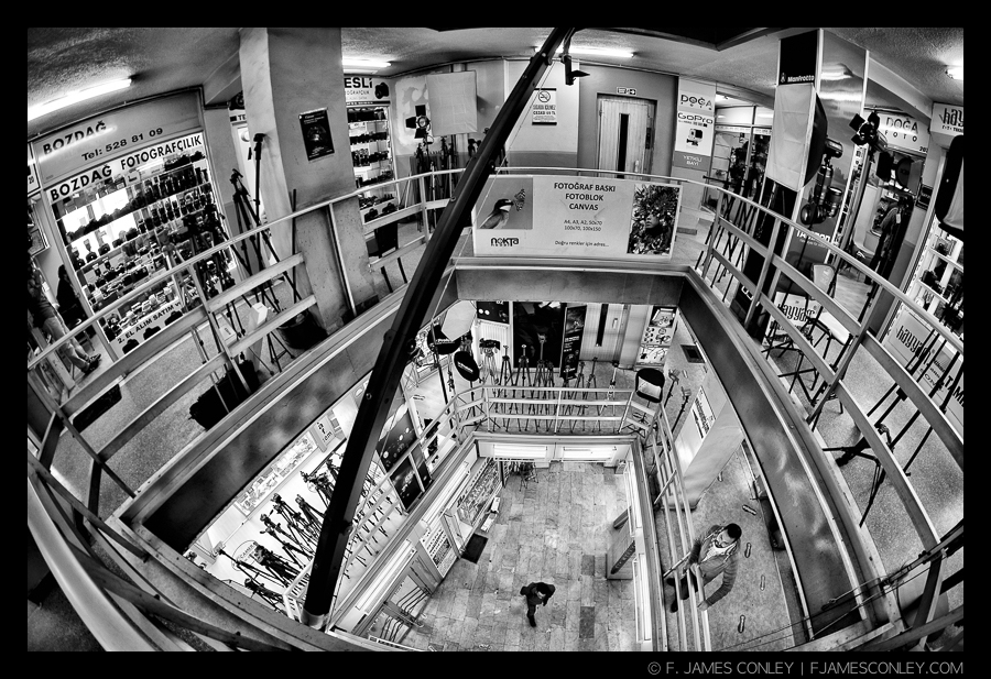 Five stories of photography shops. Not bad!