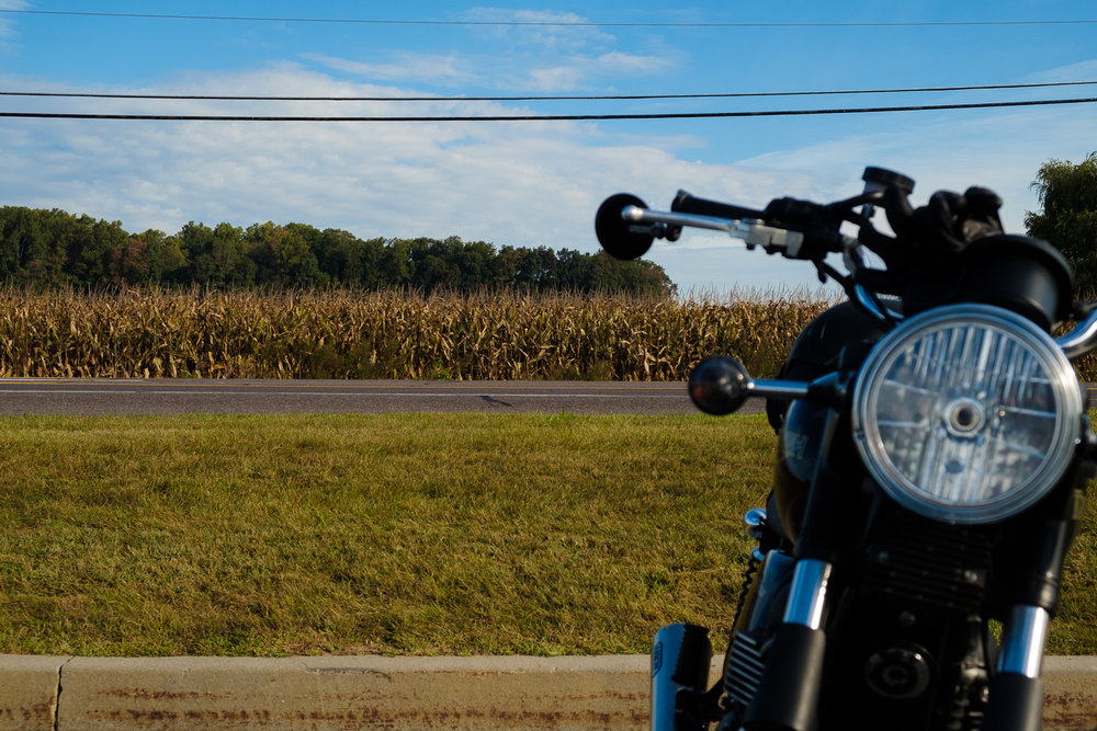 Corn along US Route 30.