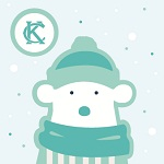 """02.03.14Our polar bear """"mascot"""" for the snowstorm that hit KC"""