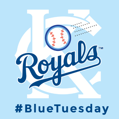 09.30.14 Royals in their first playoff game since 1985! Wear your blue for #BlueTuesday!