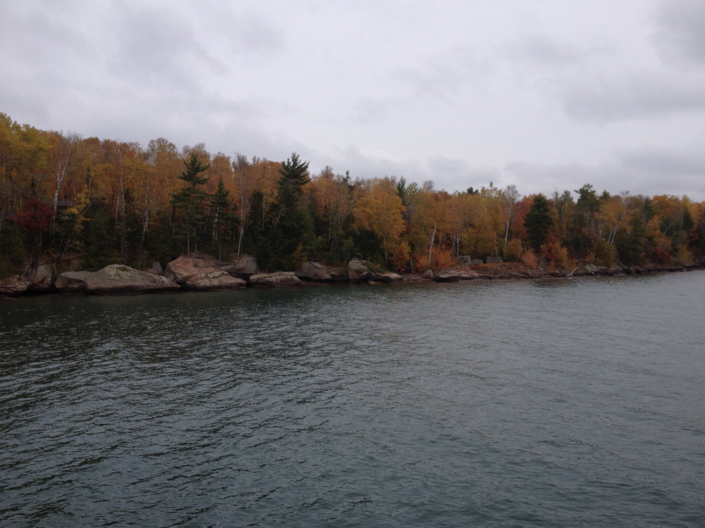 Lake Superior's Apostle Islands in Fall.