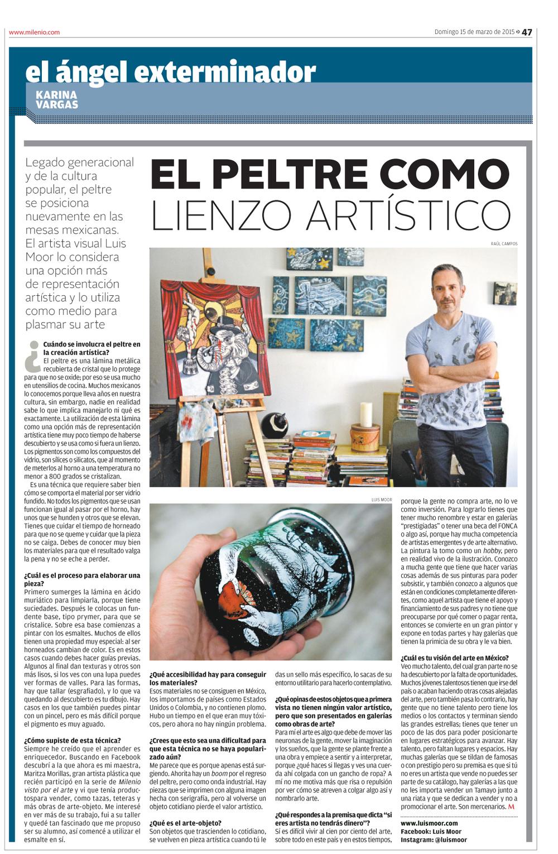 Milenio diario, página 47. Domingo 15 de marzo de 2015.