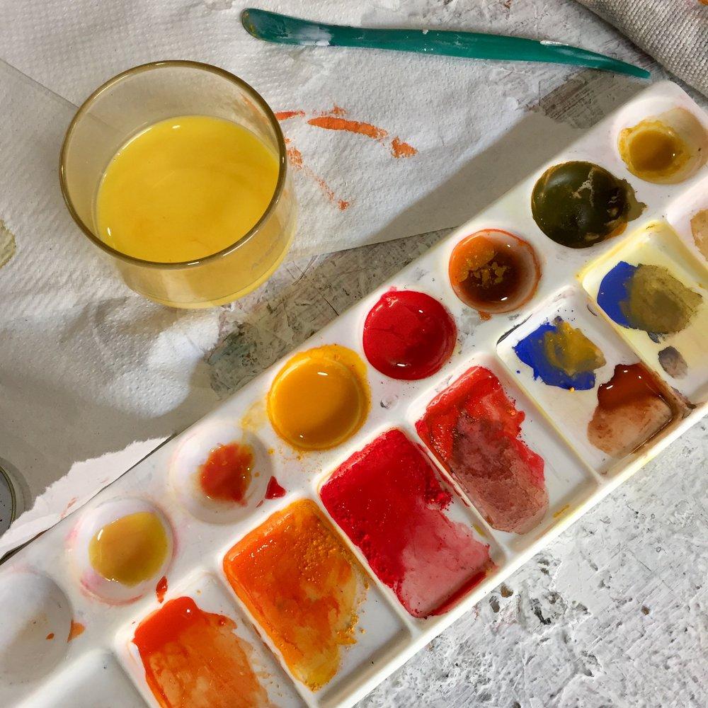 Empleo de pigmentos