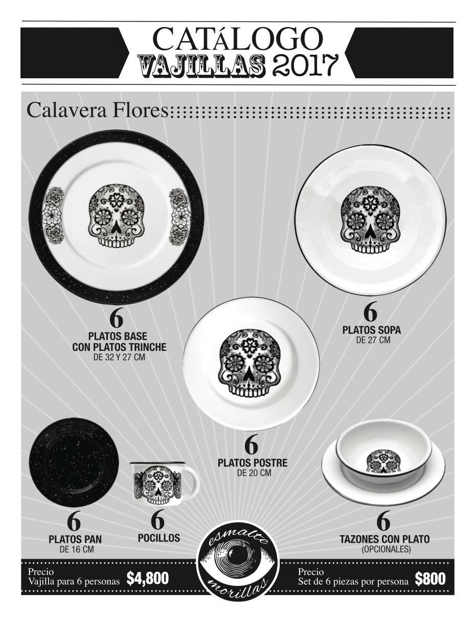 Diseño de catálogo de vajillas