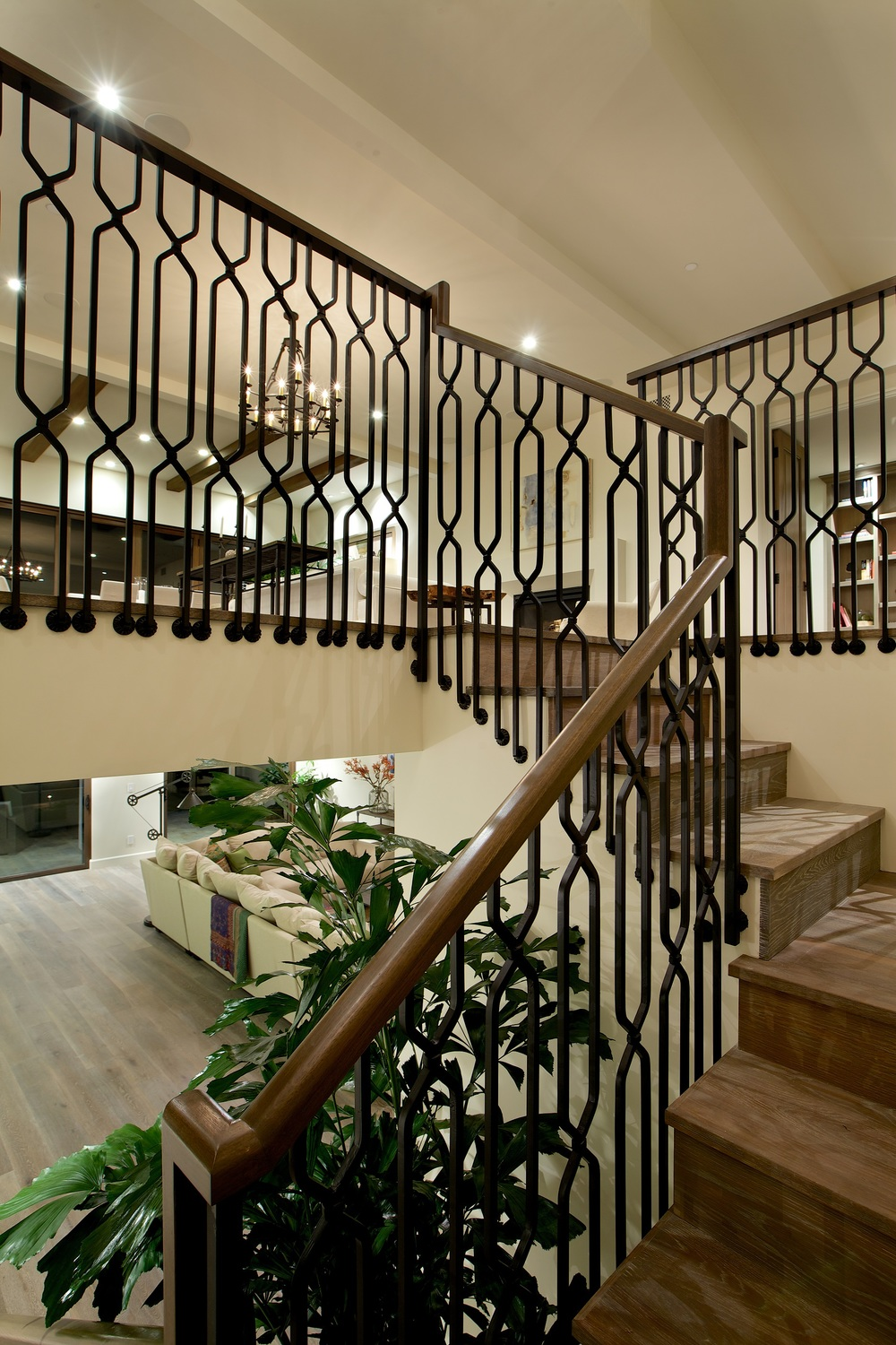 Custom Hand Forged Iron Railing