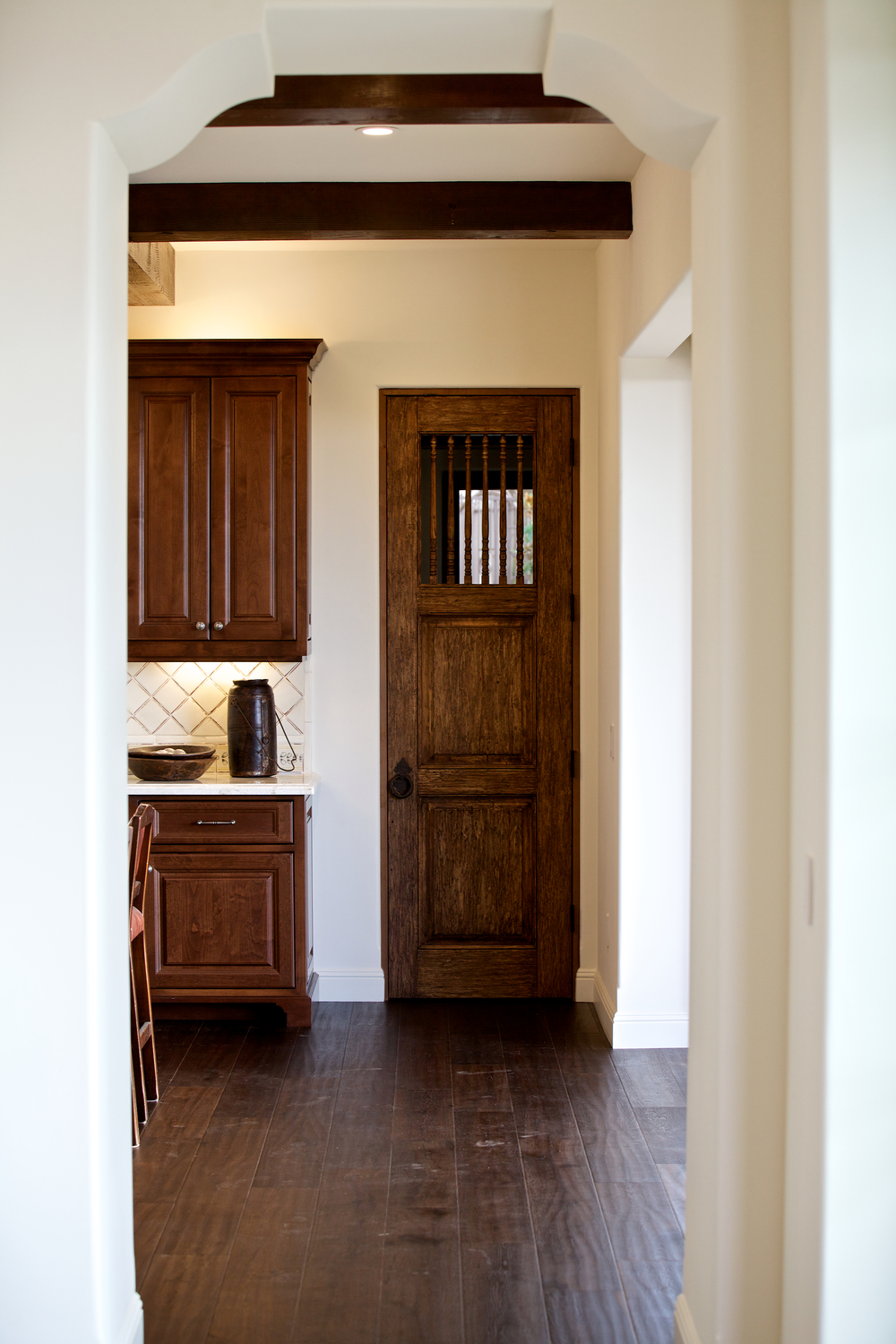 One-of-a-kind Character Pantry Door & Custom Hand Forged Hardware