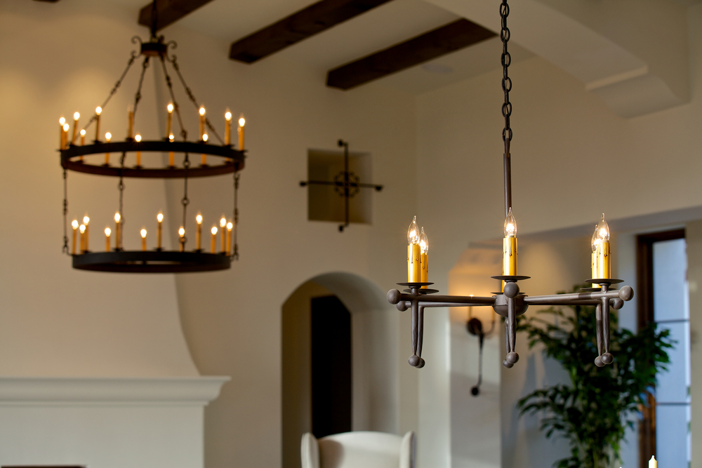 Custom Hand Forged Iron Chandeliers