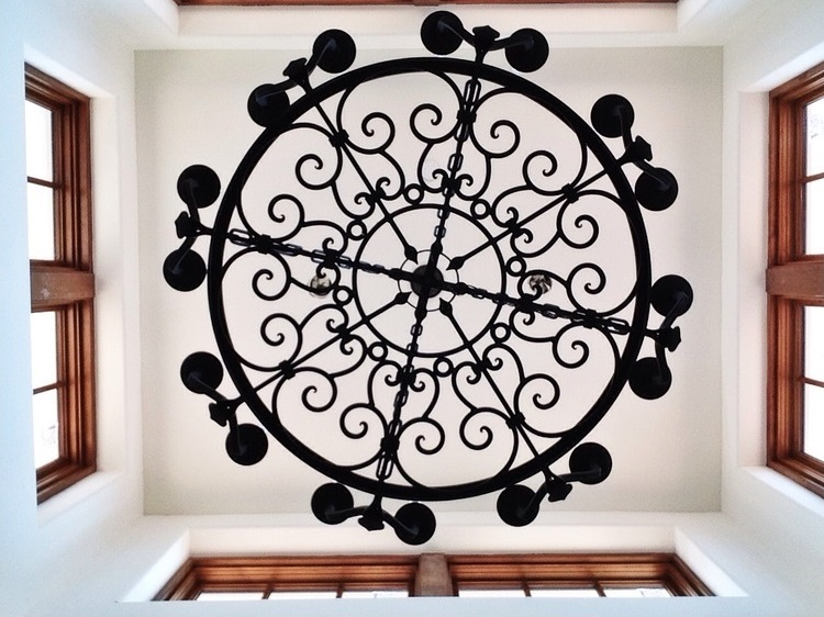 Bottom View of our Custom Chandelier