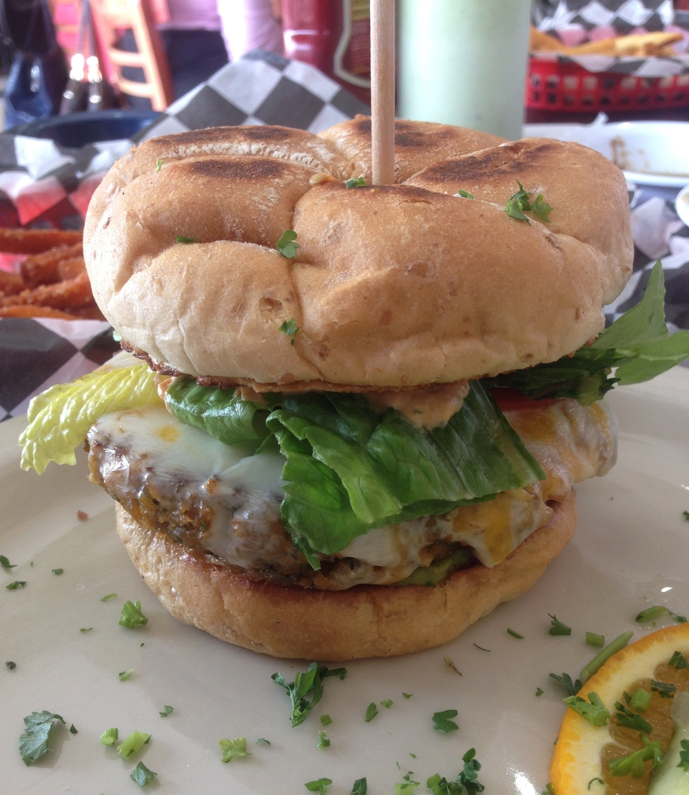 The Green Burger at Green Vegetarian Cuisine