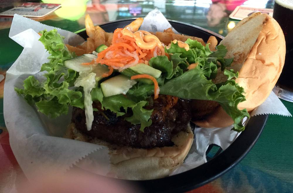 Banh Mi Cheeseburger from Hughie's Tavern & Vietnamese Grille