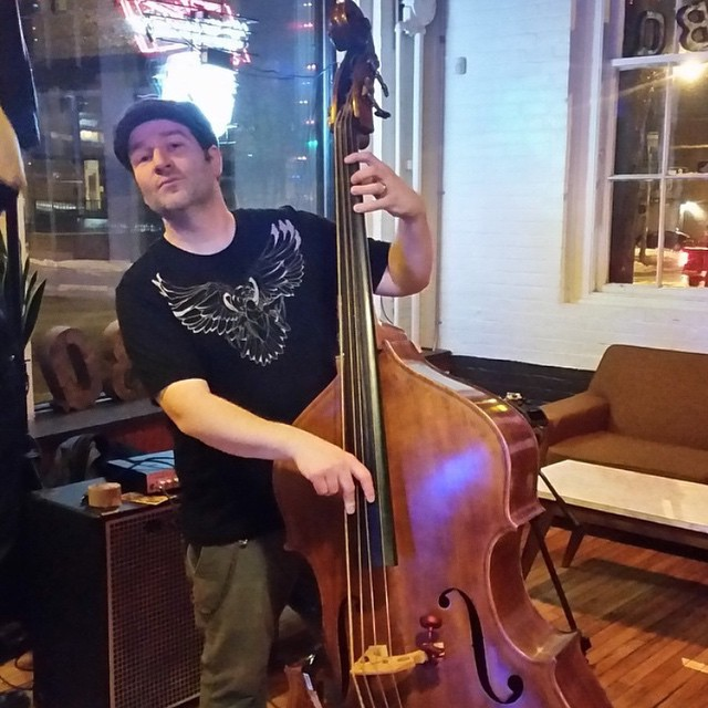 Our friend, @adamkbarber shredding bass in his Ahiru shirt - that savage duck has never looked more badass! You can catch this guy playing with Pete Witham & the Cozmik Zombies in the Portland, ME area. #bubbycubby