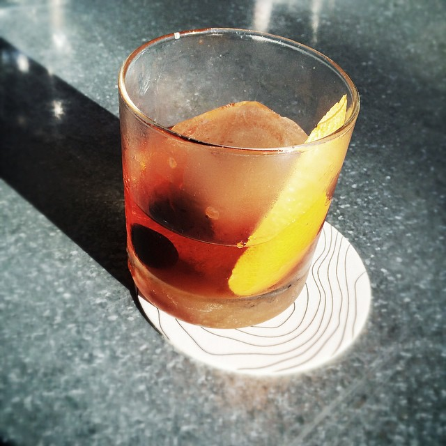 @huntandalpine for an afternoon delight!  Best Bourbon Old Fashioned in town.
