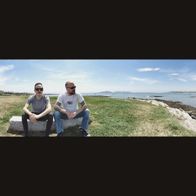 Got to hang out with Scottie Lite and Scottie Classic yesterday for a beautiful ride on two vintage motorcycles through Cape Elizabeth to Kettle Cove. Stopped to enjoy some sun and sea. #theoceanismymuse @iamscottmcalister @lyleleathers