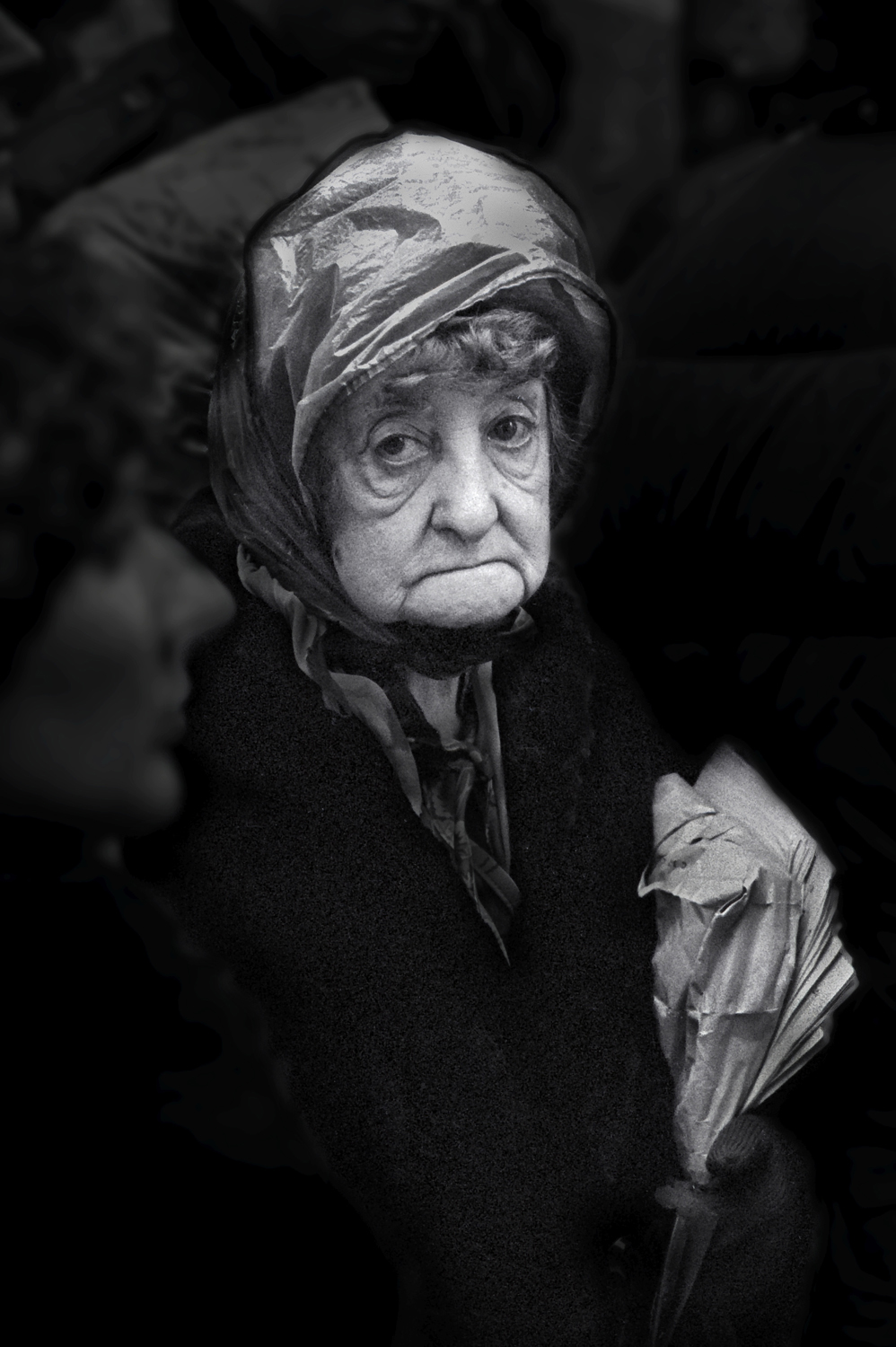 01-Old Woman in Rain HatW.jpg