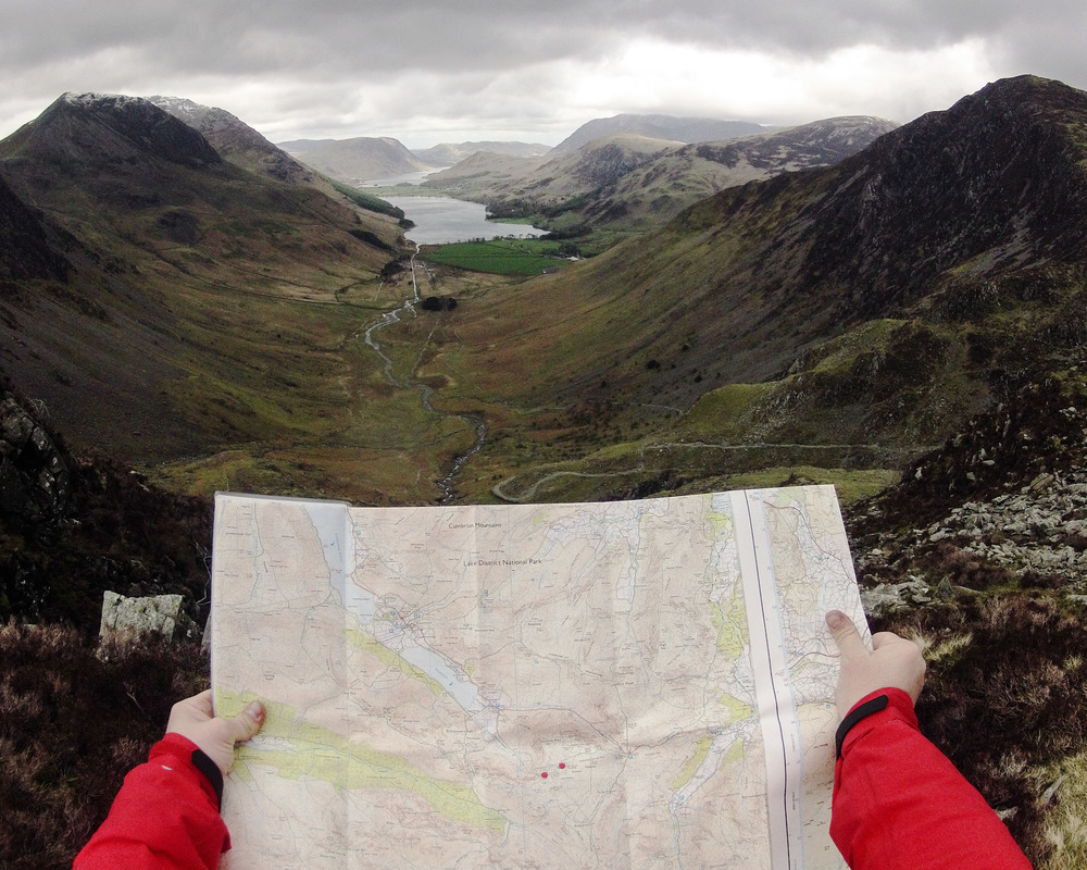 Image taken on a GoPro on the fells above Buttermere, The Lake District