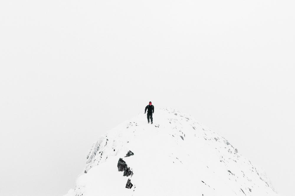 Andy walking the ridge.