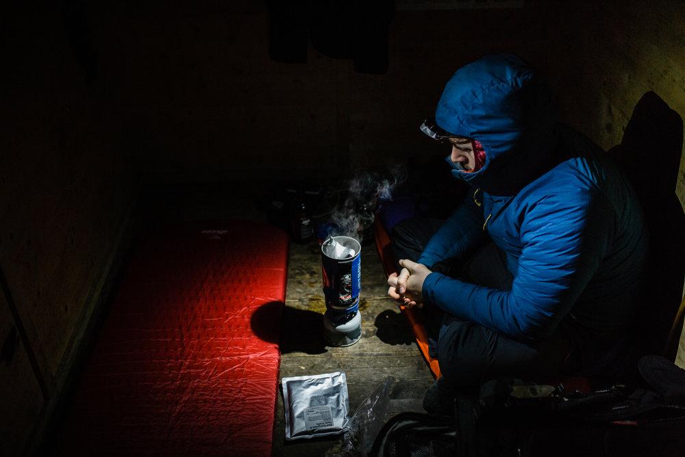 Nicholas White, Black Dots, Fords of Avon Refuge Hut, Cairngorms, Scotland