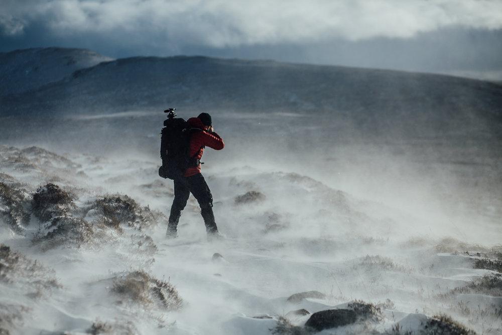 Nicholas White, Black Dots, Corrour Bothy, Cairngorms, Scotland