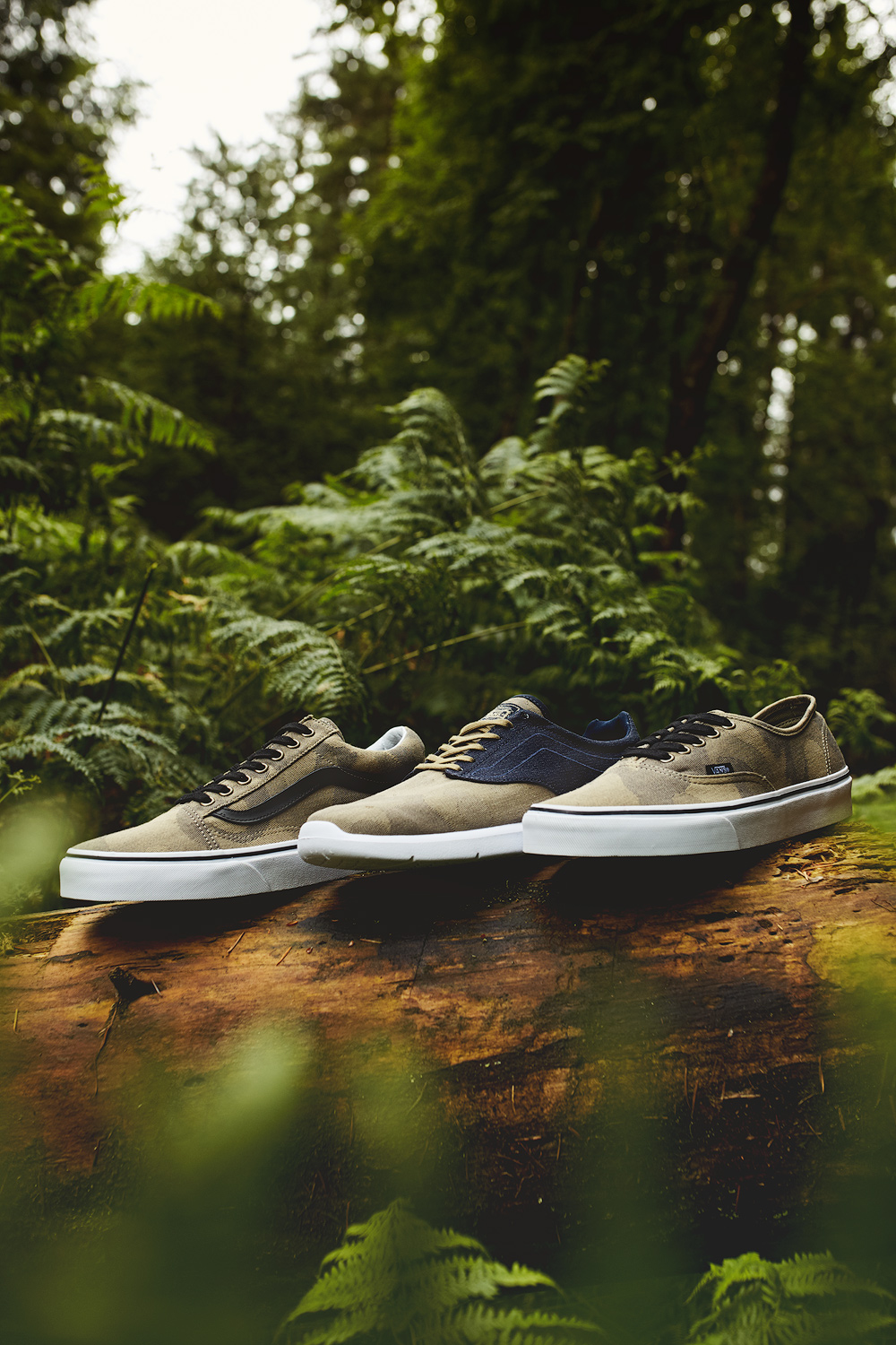 Vans Camo Pack shot by Nicholas White on location at Fernworthy Forest for Pro Direct Select
