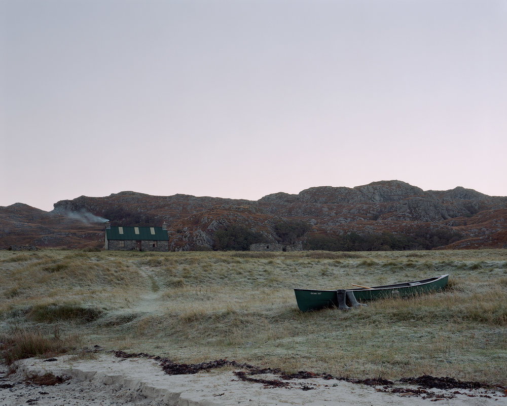 Sandy's Canoe at Peanmeanach Bothy, from 'Black Dots'