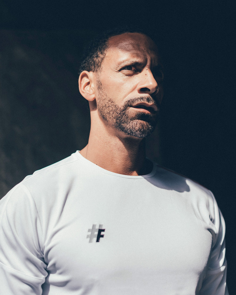 rio ferdinand photo shoot with dink five and sports direct football