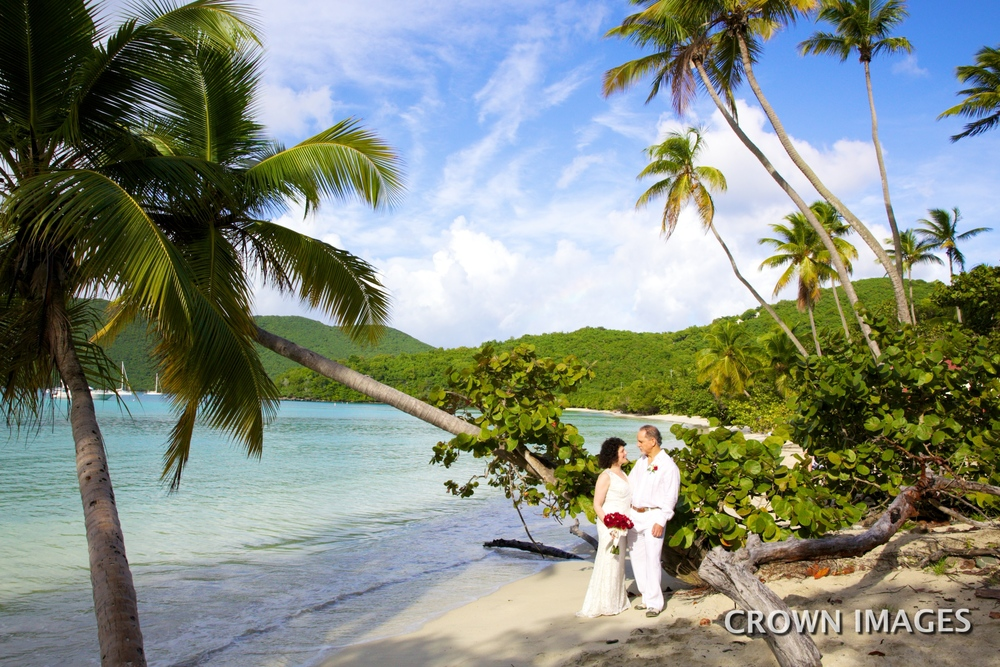 st john beach wedding