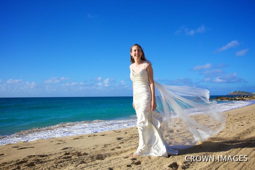trash the dress on the beach virgin islands