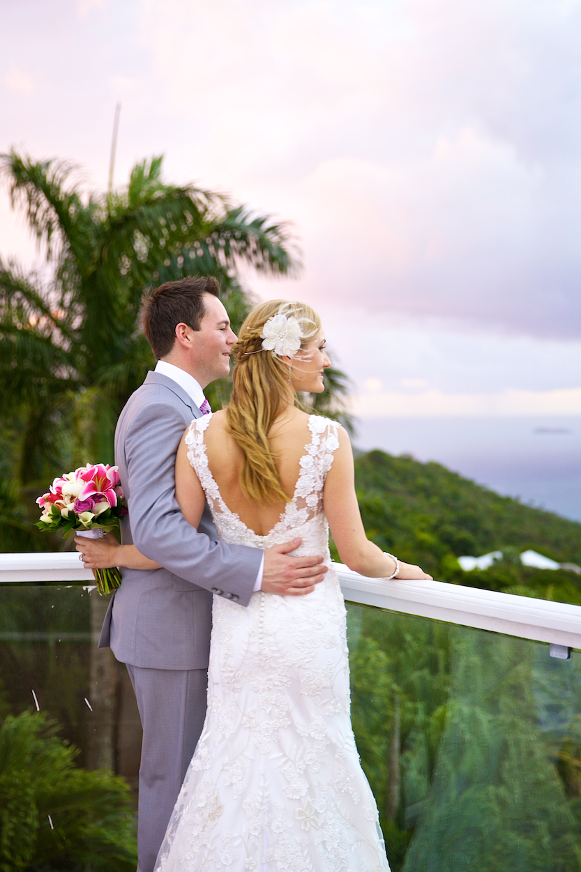 sunset wedding in the virgin islands