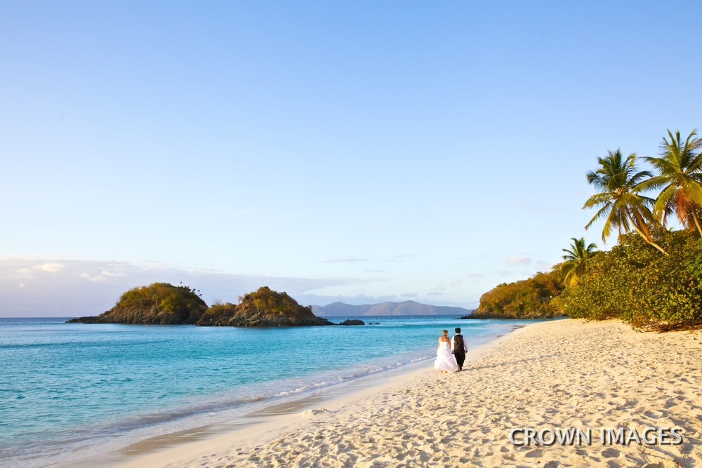 best beach for a sunset wedding on st john