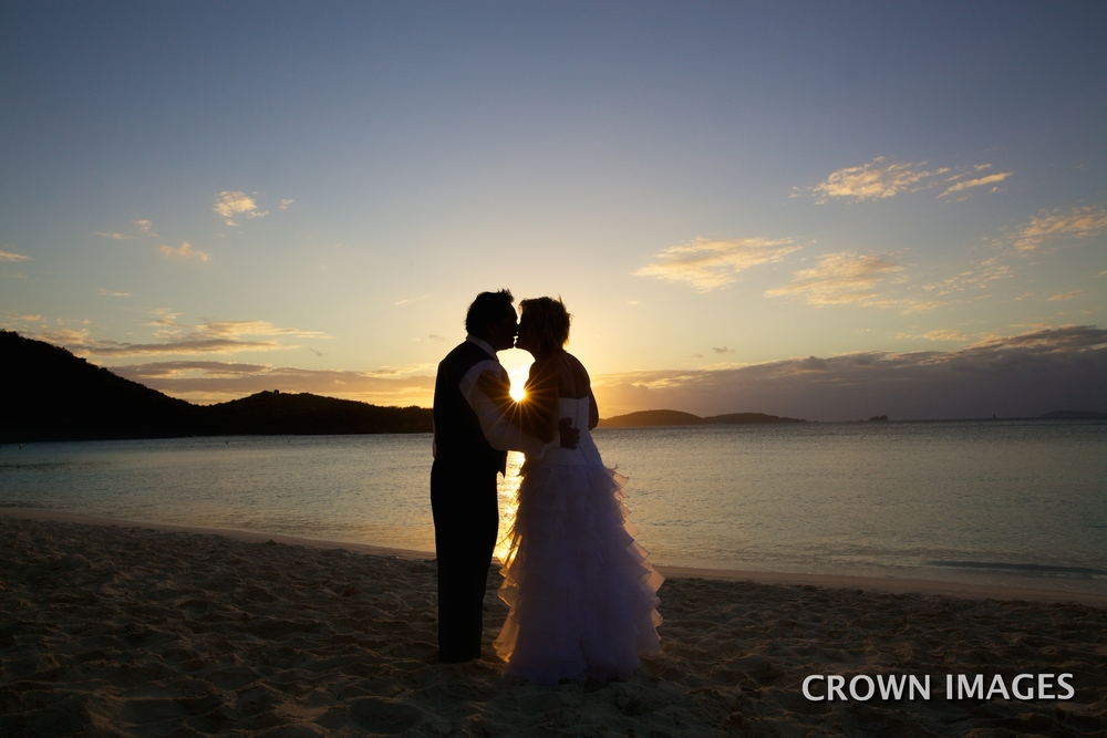 sunset wedding virgin islands