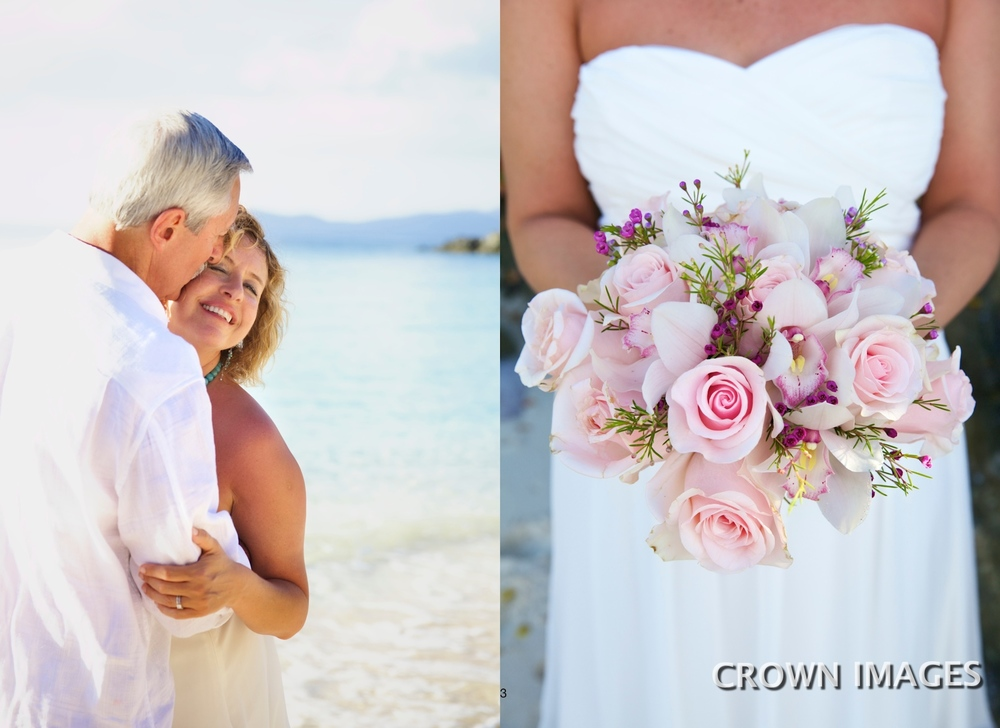 beach wedding at caneel bay