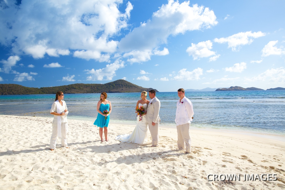 wedding ceremony on st thomas beach