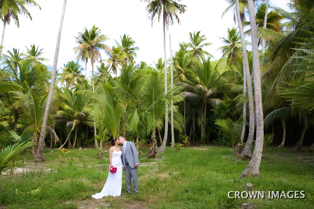 jungle wedding photos virgin islands