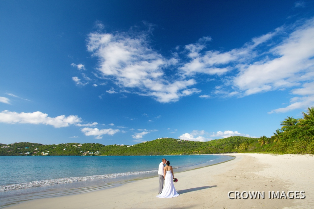 wedding at magen's beach st thomas