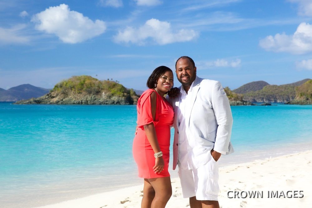photo session on Trunk Bay Beach