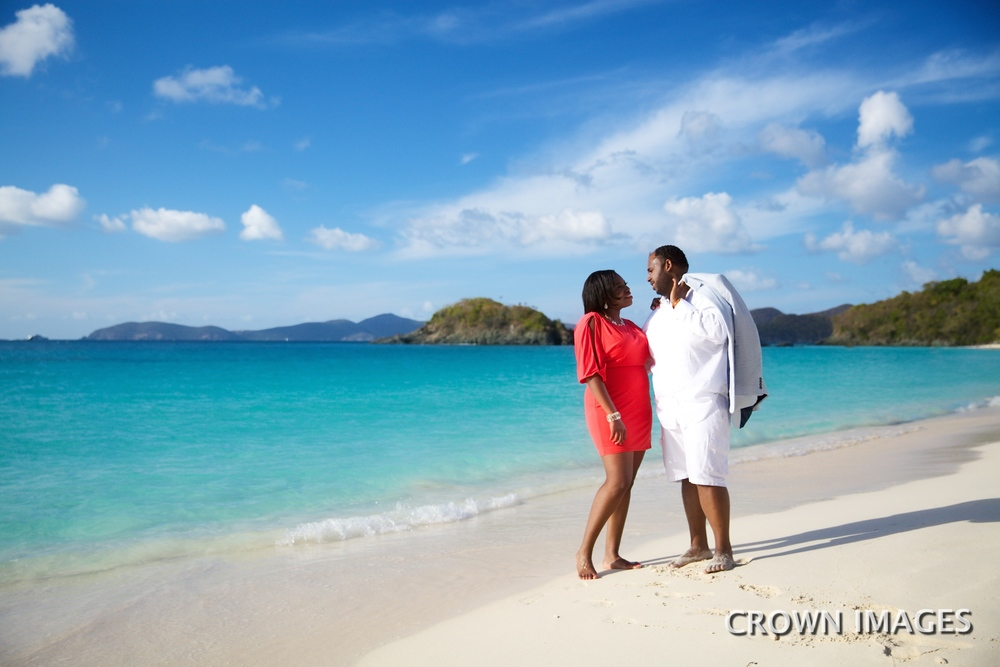 st john engagement photo session