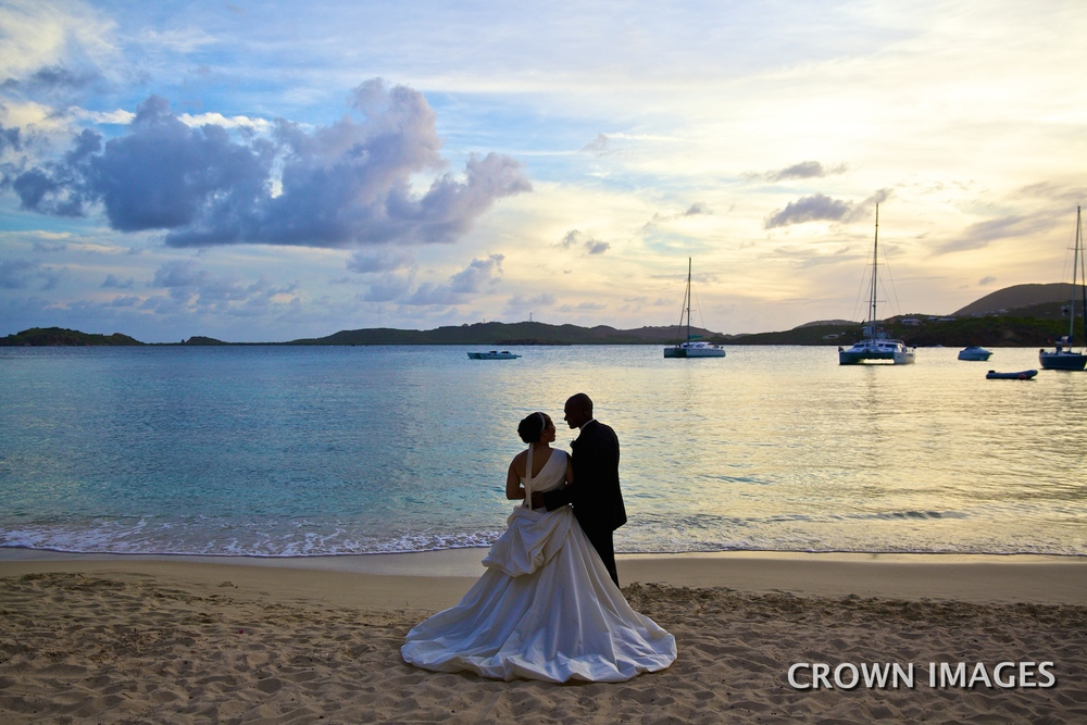 sunset wedding photos st thomas