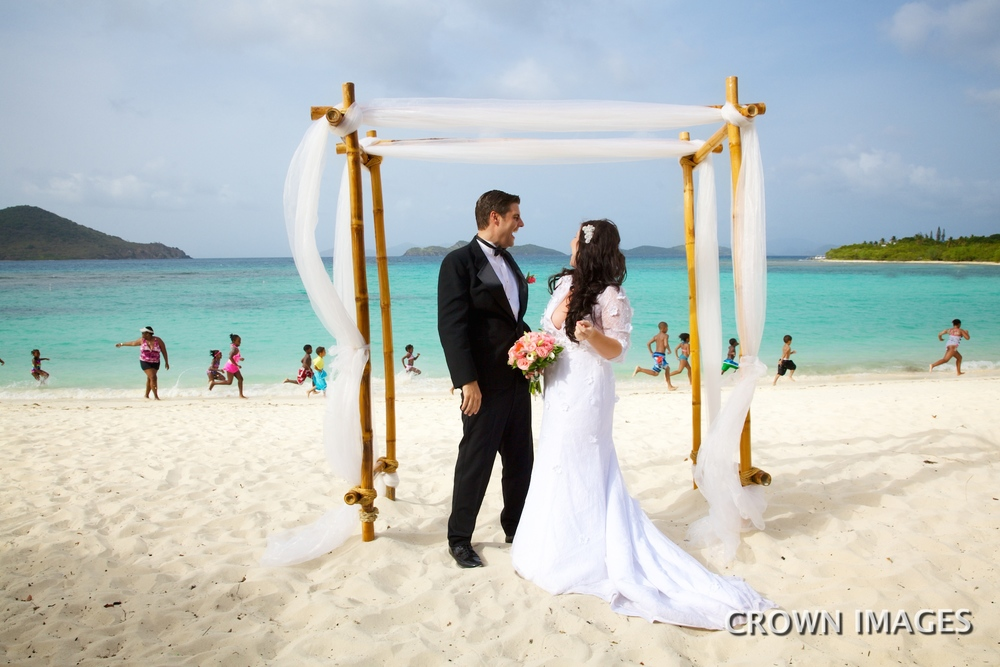 st thomas beach wedding location