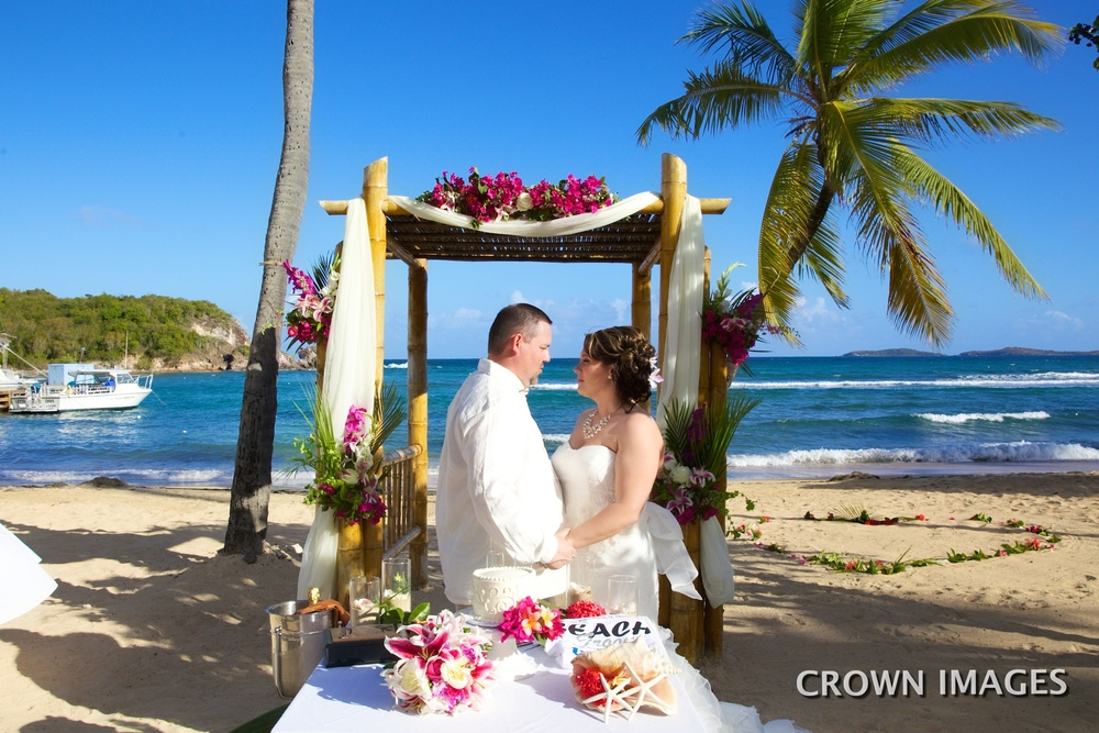 wedding at bolongo bay resort st thomas