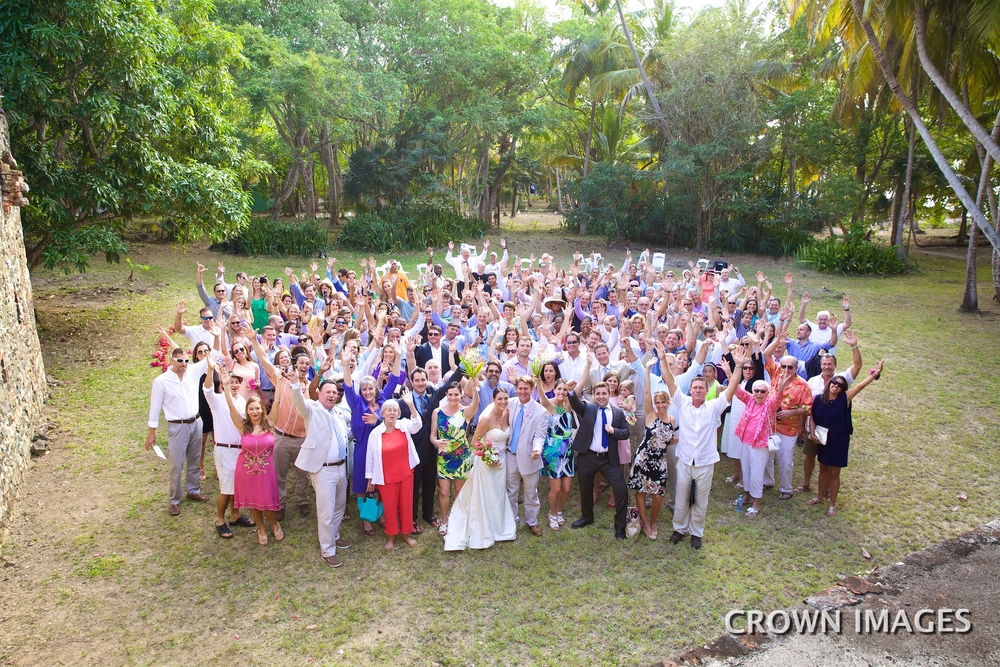wedding group on st thomas