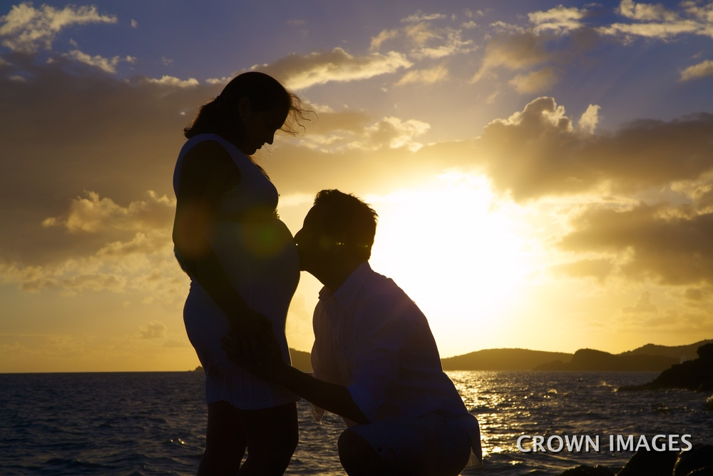babymoon photo session virgin islands