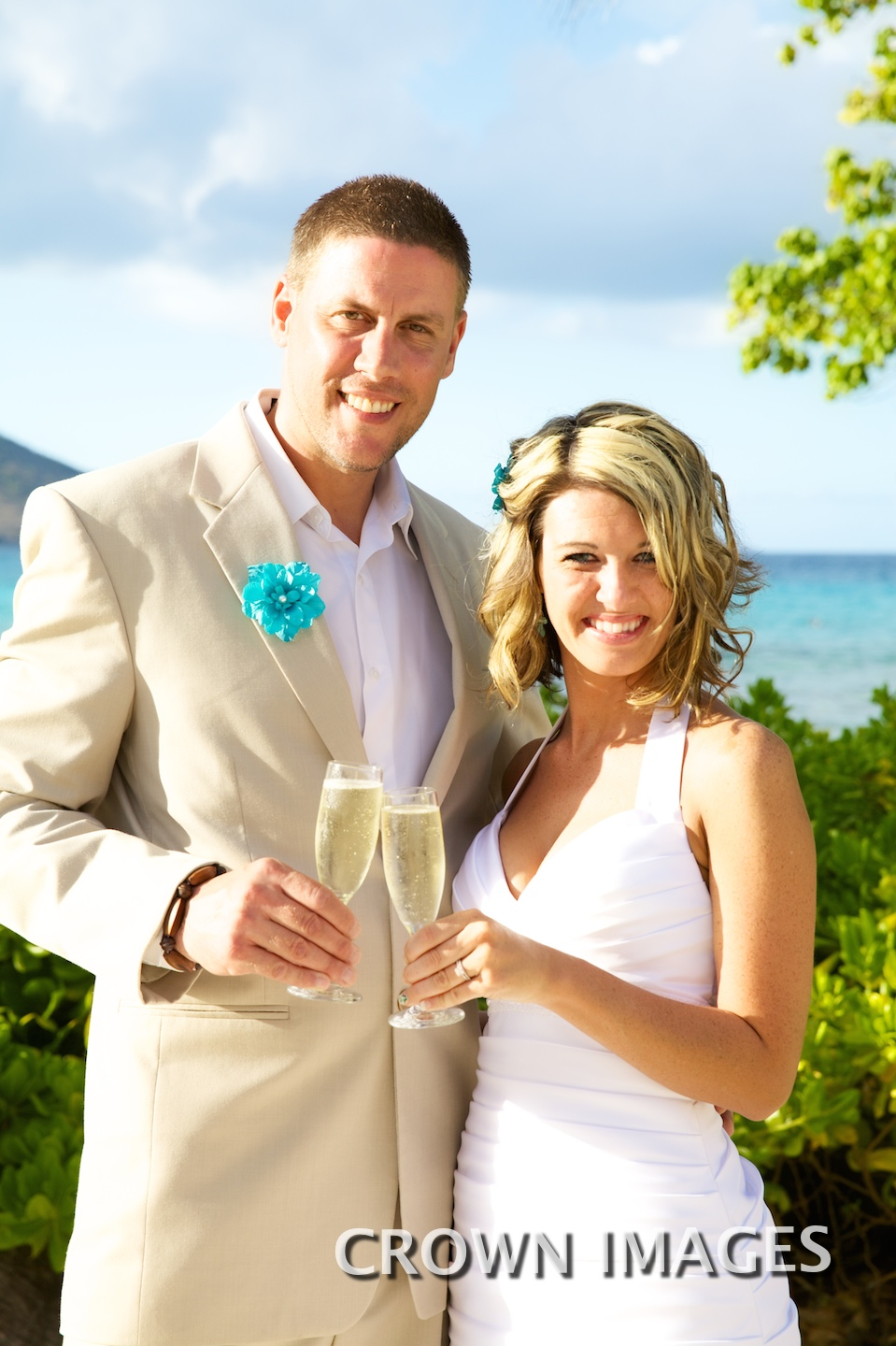 wedding couple toast st thomas