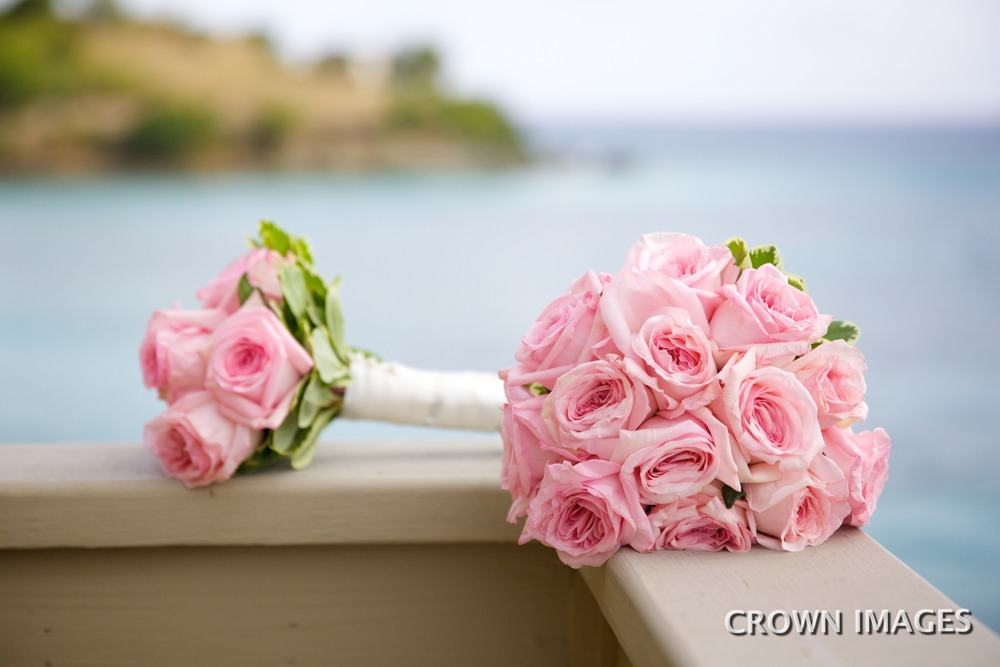 wedding flowers on st john beach