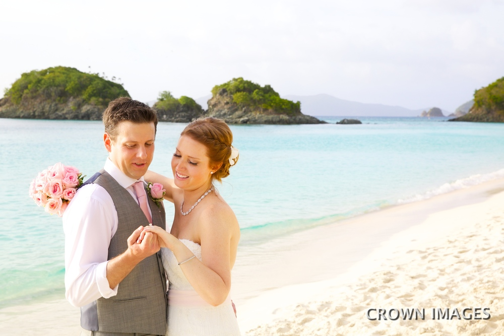 trunk bay beach st john wedding