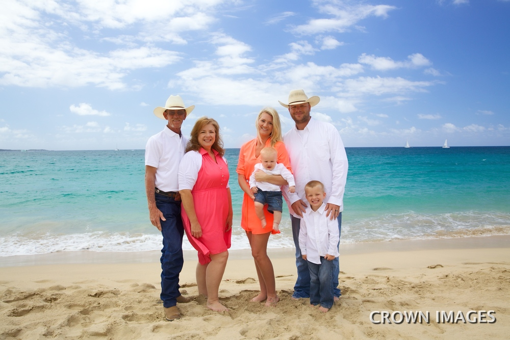 family photo on st thomas