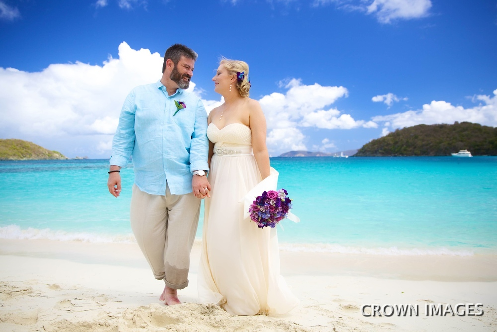 beach wedding photos by crown images