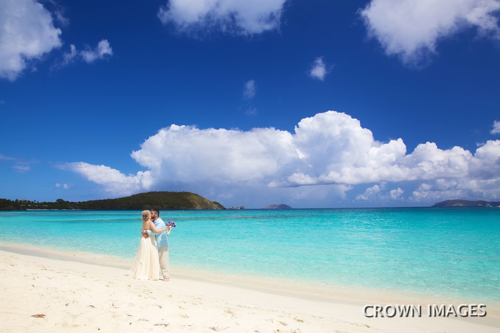 hawksnest bay beach st john wedding
