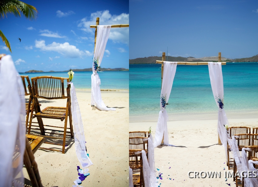 st thomas beach location for a wedding
