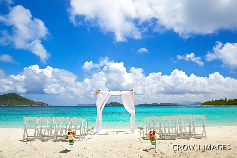 st thomas wedding lindquist beach crown images