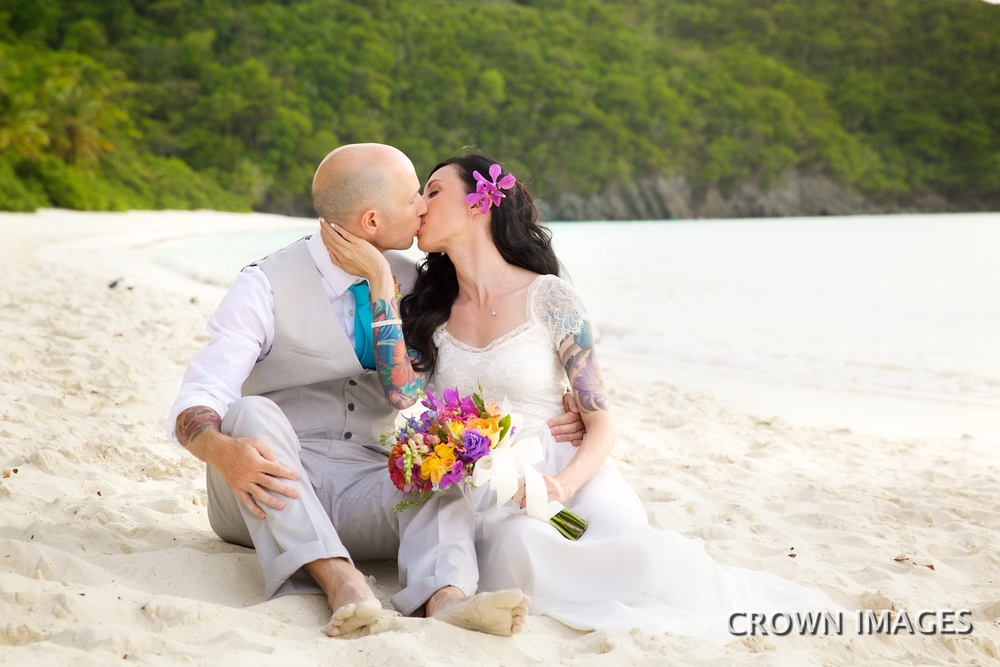 trunk bay beach st john wedding photos by crown images